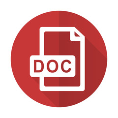doc file red flat icon