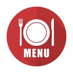 menu red flat icon restaurant sign