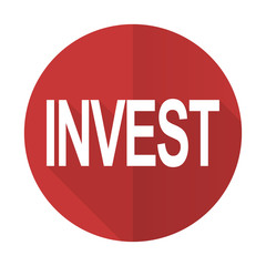 invest red flat icon