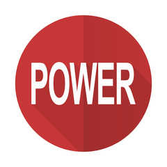 power red flat icon