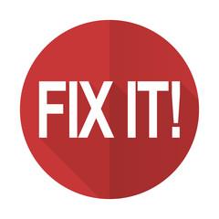 fix it red flat icon