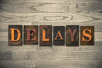 Delays Wooden Letterpress Theme