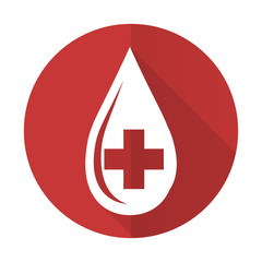 blood red flat icon