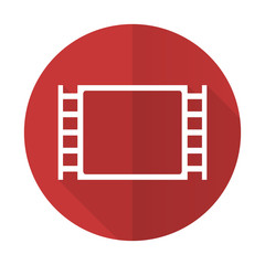 movie red flat icon
