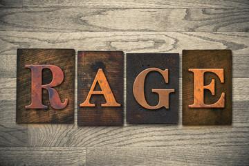 Rage Wooden Letterpress Theme