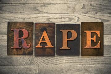 Rape Concept Wooden Letterpress Theme