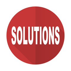 solutions red flat icon