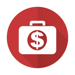 financial red flat icon
