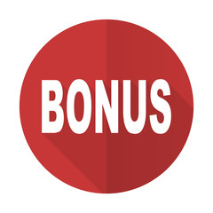 bonus red flat icon