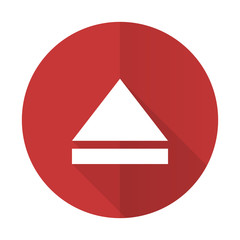 eject red flat icon open sign