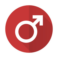 male red flat icon male gender sign