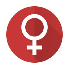 female red flat icon female gender sign