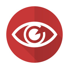 eye red flat icon view sign