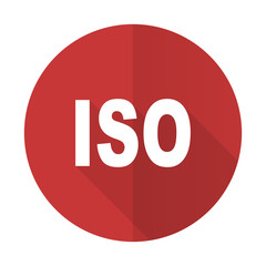 iso red flat icon