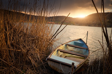 Boat on reed © Creaturart