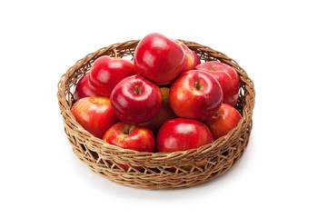 apples arranged in a basket
