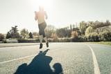 Fototapeta runner in action