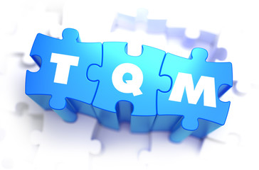 TQM - White Word on Blue Puzzles.