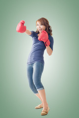 Fighting girl concept