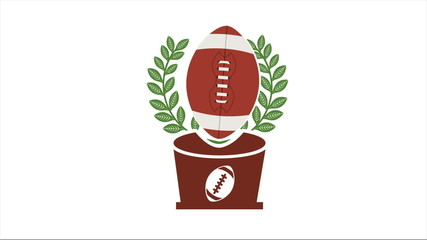American football ball, Video animation, HD 1080