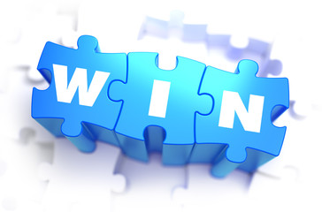 Win - White Word on Blue Puzzles.