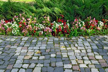 Floral flowerbed