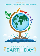 Earth Day Celebration Poster Design Template