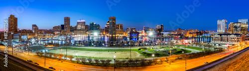 Foto op Aluminium Verenigde Staten Baltimore skyline panorama at dusk