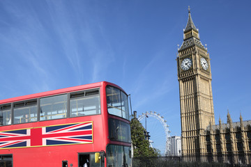 London Bus with Big Ben