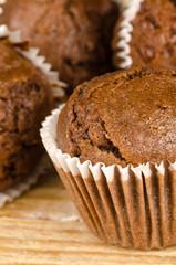 Homemade chocolate muffins