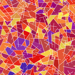seamless pattern of colored geometric shapes