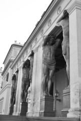 Atlas Statue at Entrance of New Hermitage.