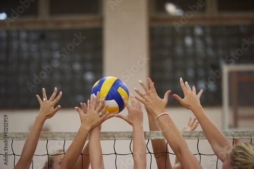 Leinwanddruck Bild volleyball