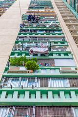 Close up of Hong Kong old apartments, Asia
