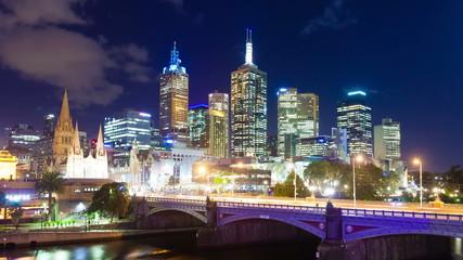 4k hyperlapse, motion timelapse, video of downtown Melbourne