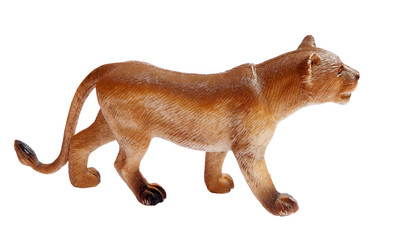 rubber lion on white background