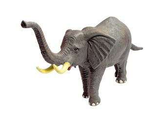 Toy Elephant on White Background