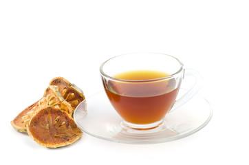 Bael tea isolate on white