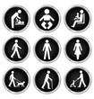 Black people related icon set
