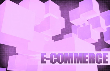 E-commerce on Futuristic Abstract