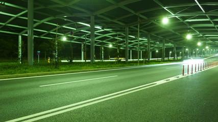Nightlapse of Tokyo's industrial area illumination.