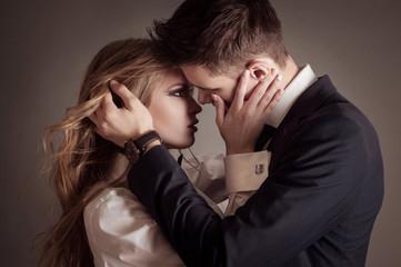Fashion portrait of lovers