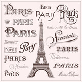hand drawn Paris design elements