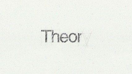 Text animation 'Theory' for presentations(included Alpha)