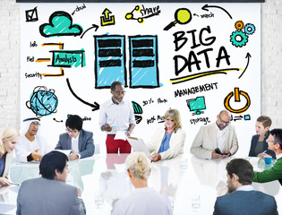 Diversity Business People Big Data Meeting Discussion Concept