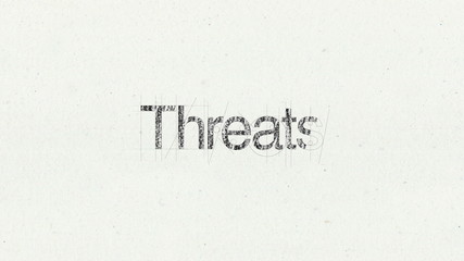 Text animation 'Threats' for presentations(included Alpha)