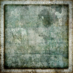 Square Grunge Stone Frame Texture Background