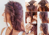 one side fishtail braid tutorial by beauty blogger poster