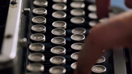 Old Typewriter Typing