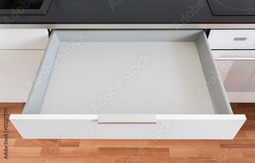 opened kitchen drawer